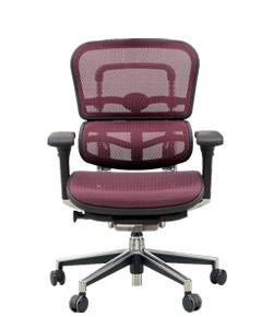 Ergohuman エルゴヒューマンチェア ベーシック イス 椅子 エラストメリックメッシュ ロータイプ レッド