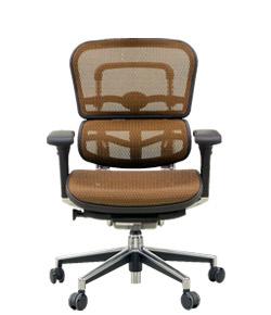 Ergohuman エルゴヒューマンチェア ベーシック イス 椅子 エラストメリックメッシュ ロータイプ オレンジ