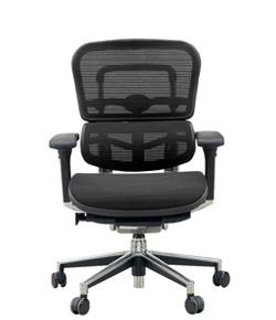 Ergohuman エルゴヒューマンチェア ベーシック イス 椅子 ファブリックメッシュ ロータイプ ブラック