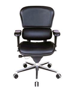 Ergohuman エルゴヒューマンチェア ベーシック イス 椅子 革張り ロータイプ ブラック