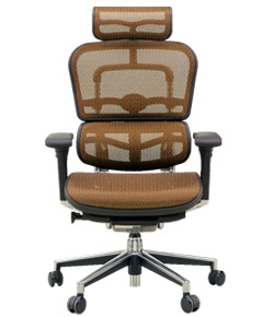 Ergohuman エルゴヒューマンチェア ベーシック イス 椅子 エラストメリックメッシュ ハイタイプ オレンジ