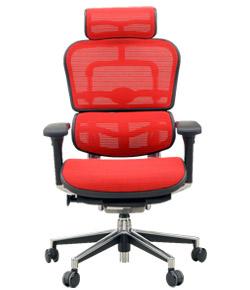 Ergohuman エルゴヒューマンチェア ベーシック イス 椅子 ファブリックメッシュ ハイタイプ レッド
