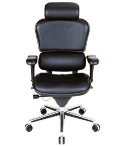 Ergohuman エルゴヒューマンチェア ベーシック イス 椅子 革張り ハイタイプ ブラック