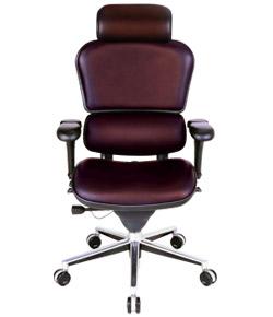 Ergohuman エルゴヒューマンチェア ベーシック イス 椅子 革張り ハイタイプ ブラウン