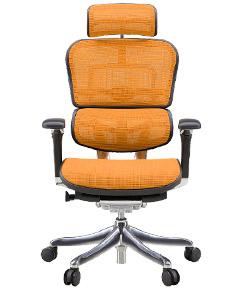 Ergohuman エルゴヒューマンチェア プロ イス 椅子 ファブリックメッシュ ハイタイプ オレンジ