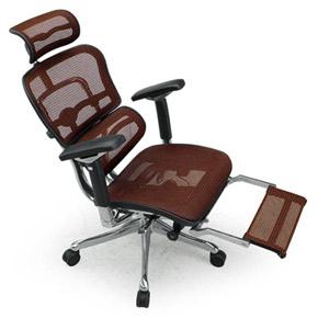 Ergohuman エルゴヒューマンチェア プロ オットマン内蔵 イス 椅子 エラストメリックメッシュ ハイタイプ オレンジ
