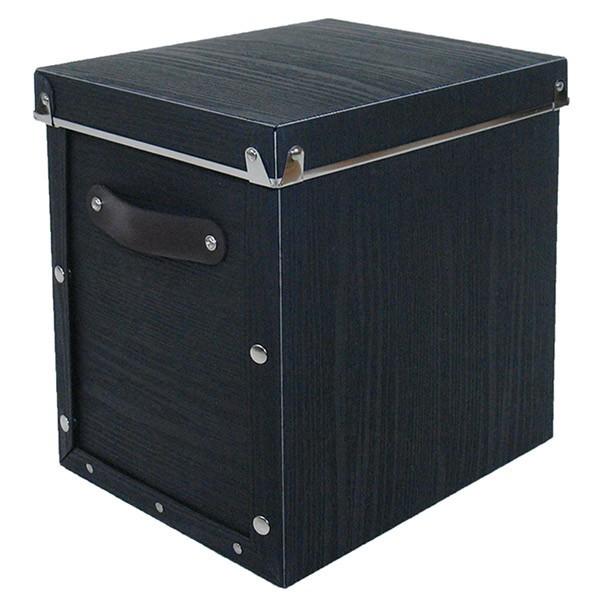 東洋ケース 水や汚れに強い収納ボックス アンティークスタイルモジュールボックス 縦型 ブラック ASB2-A-WH(4セット)