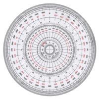コンサイス 全円分度器 C-18 18cm(10セット)