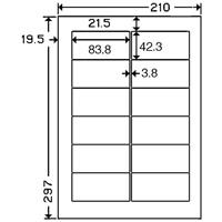 東洋印刷 ナナワードラベル LDW12PG A4/12面 500枚(10セット)