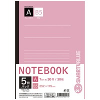 jointekkususemi B5筆記本5册包A格P001J-5P