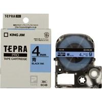 キングジム テプラPROテープ SC4B 青に黒文字 4mm(10セット)