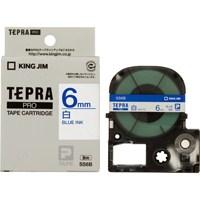 キングジム テプラPROテープ SS6B 白に青文字 6mm(10セット)