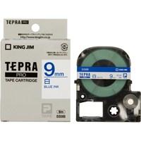 キングジム テプラPROテープ SS9B 白に青文字 9mm(10セット)