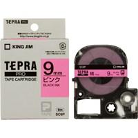 キングジム テプラPROテープ SC9P 桃に黒文字 9mm(10セット)