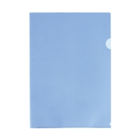LIHITLAB クリヤーホルダー G6100-20 A4 青 100枚(10セット)