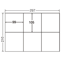 東洋印刷 ナナ コピー用ラベル C6G A4/6面 500枚(10セット)