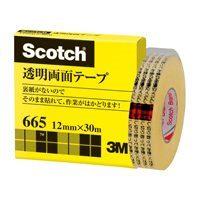 スリーエムジャパン 透明両面テープ 665-1-12 12mm×30m(10セット)