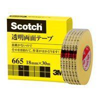 スリーエムジャパン 完売 スコッチ透明両面テープ665-1-18 40セット 当店一番人気 18mm×30m