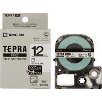 キングジム PROテープマット SB12S 白に黒文字 12mm(10セット)