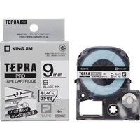 キングジム PROテープ再剥離 SS9KE 白に黒文字 9mm(10セット)