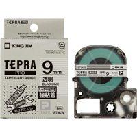 キングジム PROテープ強粘着 ST9KW 透明に黒文字 9mm(10セット)