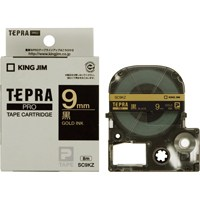 キングジム テプラPROテープ SC9KZ 黒に金文字 9mm(10セット)