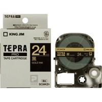 キングジム テプラPROテープ SC24KZ 黒に金文字 24mm(10セット)