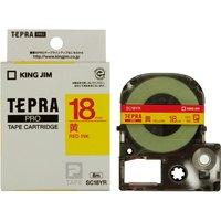 キングジム テプラPROテープ SC18YR 黄に赤文字 18mm(10セット)