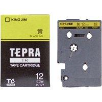 キングジム テプラTRテープ TC12Y 黄に黒文字 12mm(10セット)