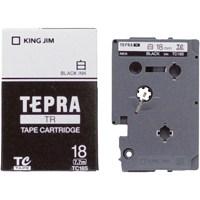 キングジム テプラTRテープ TC18S 白に黒文字 18mm(10セット)