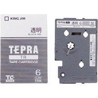 キングジム テプラTRテープ TT6K 透明に黒文字 6mm(10セット)