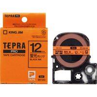キングジム テプラPROテープSK12D 蛍光橙に黒文字 12mm(10セット)