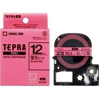 キングジム テプラPROテープSK12P 蛍光桃に黒文字 12mm(10セット)