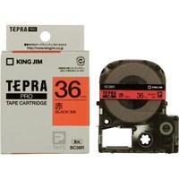 キングジム テプラPROテープ SC36R 赤に黒文字 36mm(10セット)