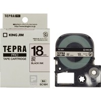 キングジム テプラPROテープ SC18H 灰に黒文字 18mm(10セット)