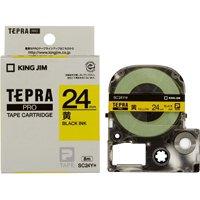 キングジム テプラPROテープ SC24Y 黄に黒文字 24mm(10セット)