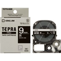 キングジム テプラPROテープ SD9K 黒に白文字 9mm(10セット)