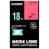 カシオ計算機 ラベルテープ XR-18RD 赤に黒文字 18mm(10セット)