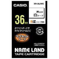 カシオ計算機 マグネットテープ XR-36JWE 白に黒文字36mm(10セット)