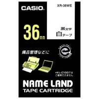 カシオ計算機 ラベルテープ XR-36WE 白に黒文字 36mm(10セット)