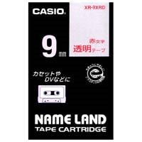 カシオ計算機 透明テープ XR-9XRD 透明に赤文字 9mm(10セット)