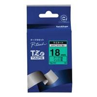 ブラザー 文字テープ TZe-741緑に黒文字 18mm(10セット)