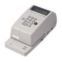 マックス 電子チェックライター EC-310C 8桁(10セット)