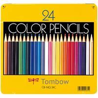 トンボ鉛筆 色鉛筆 CB-NQ24C 24色 缶入(10セット)