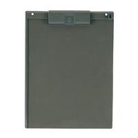 プラス クリップボード FL-411CP A4E ダークグレー(10セット)