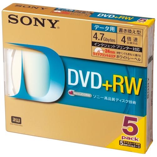 SONY DVD+RW [4.7GB] 5DPW47HPS 5枚 SONY DVD+RW [4.7GB] 5DPW47HPS 5枚(10セット)