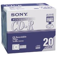 SONY CD-R [700MB] 20CDQ80DPWA 20枚(10セット)