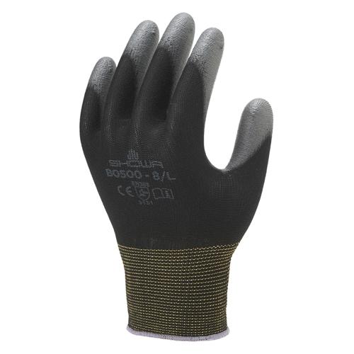 ショーワグローブ パームフィット手袋B0500ブラック L 10双(10セット)