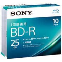 SONY 録画用BD-R 25GB 10枚 10BNR1VJPS4(10セット)