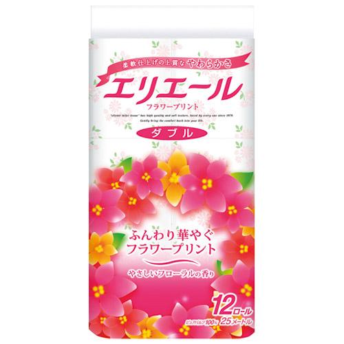 大王製紙 トイレティシューフラワーダブル 12R×8P(5セット)